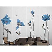 Tranh dán tường canvas hình hoa sen hiện đại ADH8522