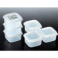 Combo 6 hộp trữ đông đồ ăn dặm 200ml kèm 3 zipper 12cm