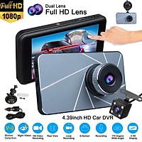 "4.39"" Touch Screen IPS 1080P Dual Lens Car DVR Dash Cam Video Camera Recorder"