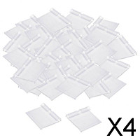 4xClear Plastic Label Holder Retail Price Tag Label Holder 50x42mm