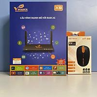 Android VINABOX X9, chuột không dây NETBOX HT68 - Hàng Chính Hãng