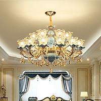 Đèn chùm MOFAI pha lê trang trí nội thất sang trọng 15 tay - kèm bóng LED chuyên dụng