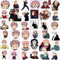 Ảnh Sticker Yuri Itadori JuJutsu Kaisen 30-60 ảnh ép lụa khác nhau/Hình dán decal Yuri Itadori
