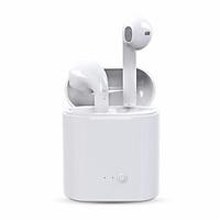 Tai nghe Bluetooth không dây I7S, màu trắng cổ điển, đi kèm với sạc, nghe lâu dài các bài hát, cuộc gọi