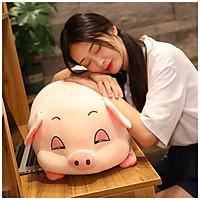 Gấu Bông Lợn Bông Buồn Ngủ full size - Màu hồng đáng yêu - Vừa ôm vừa gối làm quà tặng dễ thương cho bạn nữ