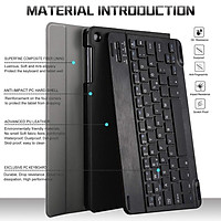 """Case for Samsung Galaxy Tab A 10.1"""" Hard Shell with Colorful Backlit Detachable Keyboard - Precise cutouts allow full access to all features"""