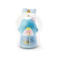 Sanrio Móc khóa búp bê trẻ em trang trí hình chim cánh cụt và ngôi sao trong quả cầu thạch anh màu xanh da trời chủ đề Giáng sinh
