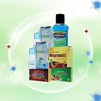 Combo 2 Nâng cao sức khỏe phòng dịch tối đa Xịt mũi Greensix, nước xúc miệng diệt khuẩn Antidecay, viên bổ tổng hợp Maxpromulti, Vitamin C & Rutin Pytastar, Viên ngậm ho sát khuẩn họng Coughtstar.