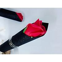 Quà 20.10 - Hoa hồng 1 bông gói giấy kim tuyến - Giao màu ngẫu nhiên