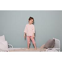 Bộ ngủ lửng  cho bé Olomimi Hàn Quốc SS20 Stripe Pink  - 100% cotton