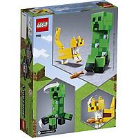 Mô hình đồ chơi lắp ráp LEGO MINECRAFT  Sinh Vật Creeper Khổng Lồ Và Mèo Ocelot 21156 ( 184 Chi tiết )