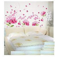 Decal dán tường trang trí hoa sang trọng