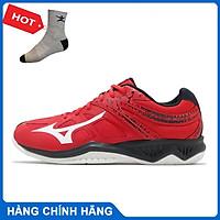 Giày cầu lông THUNDER BLADE 2 Mizuno V1GA197063 chính hãng dành cho nam, mẫu mới, đế kếp, chống lật cổ chân - Tặng tất thể thao Bendu