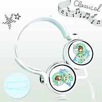 Tai nghe chụp in hình Spirited Away - Vùng Đất Linh Hồn anime chibi cắm dây có mic