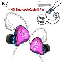 KZ ZSTX In-Ear Monitor Noise Cancelling Sport Earphone HiFi Bass DJ Music Headphone Game Universal Headset With KZ HD Aptx CSR8675 Bluetooth Module Earphone Cable Bluetooth 5.0 Wireless Upgrade Cable