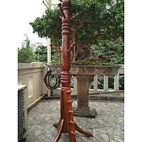 Bộ hai giá treo đồ đứng và giá treo đồ gắn tường bằng gỗ màu nhạt