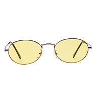 Women Men Retro Vintage Round Sunglasses Metal Frame Glasses White Sliver