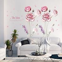 Decal dán tường hoa hồng rose lãng mạn