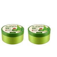Combo Gel Dưỡng Thể Nha Đam Organia Aloe Vera Soothing Gel 98% (300g)