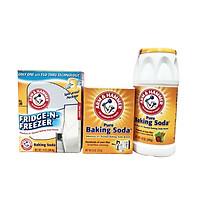 Bộ 3 baking soda tẩy rửa Arm & hammer: tẩy rửa nhà cửa 227gr + rửa rau củ quả 340gr + khử mùi tủ lạnh 397gr