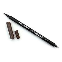 Bút lông hai đầu màu nước Marvy LePlume II 1122 - Brush/ Extra fine tip - Sepia (45)