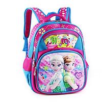 Balo học sinh cấp 1, bé gái, HAMI B1H2033 - hàng chính hãng, hàng Việt Nam Chất lượng cao (Hồng phối xanh, hình công chúa, họa tiết ngẫu nhiên)