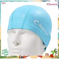 Nón Bơi Vải PU Cleacco Cao Cấp Chống Thấm Nước , mềm mại, kiểu dáng năng động ,dành cho vận động viên chuyên nghiệp hoặc người có sở thích đi bơi mỗi ngày, màu sắc đa dạng - Hàng Chính Hãng