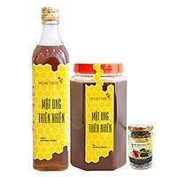Combo Thực Phẩm Chức Năng Mật Ong Thiên Nhiên Honeyboy (500ml) Và Mật Ong Thiên Nhiên Honeyboy (1kg) - Tặng Nghệ Đen Mật Ong Honeyboy (80g)