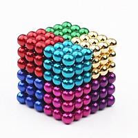 Bi nam châm xếp hình thông minh 216 viên, 5mm, 8 màu