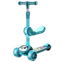 Xe Trượt Scooter Trẻ Em Có Ghế Gấp Gọn 3 Bánh Phát Sáng, Có Nhạc Và Đèn Báo, Dành Cho Bé Từ 2-12 Tuổi