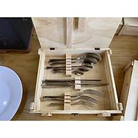 Bộ sản phẩm dao muỗng nĩa inox cao cấp 18/10 gồm 10 món
