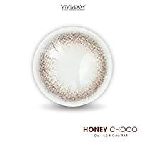 Kính áp tròng Hàn Quốc cho mắt thở VIVIMOON lens HONEY CHOCO nâu tự nhiên 13.1 mm