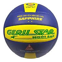 Bóng chuyền dán Gerustar Số 5 - Sapphire 2 sao - (Tặng Băng dán thể thao + Kim bơm + Lưới đựng)