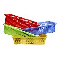 Combo 4 rổ nhựa chữ nhật Chấn Thuận Thành 33 x 23.5 x 8.5cm đựng đồ, đựng rau củ, đa năng tiện dụng RCN3320-4 (nhiều màu)