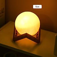 Đèn ngủ hình mặt trăng 3D, Đèn ngủ trang trí hình mặt trắng sử dụng pin 1,5v