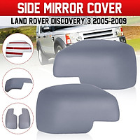 Pair Primer Wing Side Mirror Covers For Land Rover Discovery 3 Freelander 2