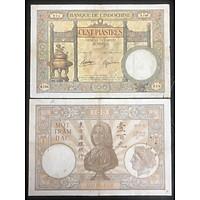 Tiền  Cổ Việt Nam kích thước lớn, mệnh giả 100 đồng Bạc đỉnh lư sưu tầm