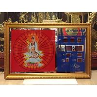 Tranh đồng hồ vạn niên Phật Bà - 35602