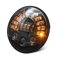 Led DRL Halo Headlight Aluminum 7-inch Matrix Gradient Color For Wrangler Headlight