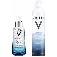 Bộ chăm sóc da Dưỡng Chất Khoáng Cô Đặc Giúp Phục Hồi Và Bảo Vệ Da Vichy Minéral 89 (50ml)+ Nước Khoáng Vichy Mineralizing Water (300ml)