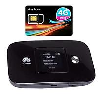Huawei E5786 | Thiết bị phát wifi 3G/4G tốc độ download lên đên 300 Mbps + Sim 4G Viaphone trọn Gói 12 Tháng | 5.5GB/Tháng - Hàng nhập khẩu