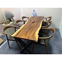 Trọn bộ bàn gỗ Me tây 6 ghế