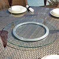 Bộ mâm xoay bàn ăn bao gồm đế xoay nhôm 30cm, mặt kính cường lực đường kính 60cm dày 10 ly, mài bóng cạnh, dùng cho bàn ăn tròn 1.2m, hợp với bàn tròn gỗ, bàn tròn inox, bàn tròn đá hoa cương, phù hợp cho hộ gia đình, nhà hàng tiệc cưới, sự kiện
