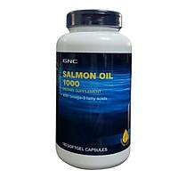 Thực Phẩm Chức Năng Hỗ trợ giúp giảm nguy cơ bệnh mạch vành ở tim GNC SALMON OIL 1000 (180 viên/Hộp)