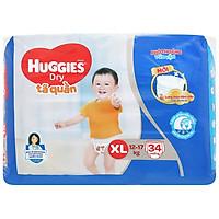 Tã Quần Huggies Dry size XL34 (34 miếng - HSD Luôn Mới