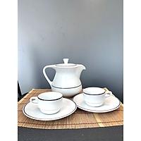 Bộ bình trà, tách trà, dĩa lót Royal Porcelain - Hàng nhập khẩu Thái Lan
