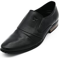 Giày Tây Nam Thủ Công Da Bò Thật K&T Black - GKT5166-01