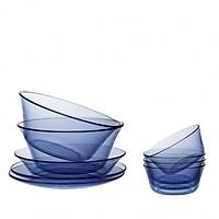 Bộ tô chén dĩa 9 món thủy tinh chịu lực Duralex Lys