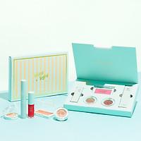 Hộp Makeup LIME Mint Đẹp Nhanh Chuẩn Hàn (Phấn Má 4.5g, Mascara 7ml, Phấn Mắt 1.5g, Son 3.5ml)