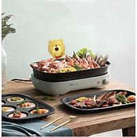 Bếp nướng điện nồi lẩu 2 trong 1 đa năng phong cách Nhật Bản AGATE GREEN